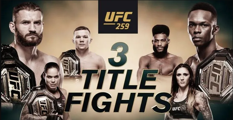 ufc 259 full fight card results