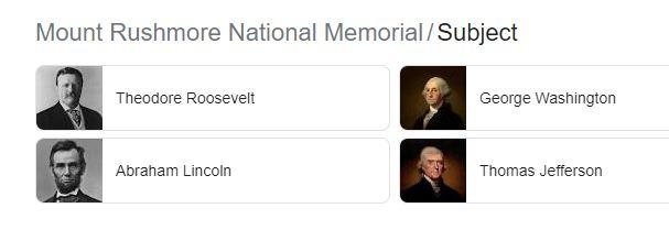 mount rushmore Presidents names